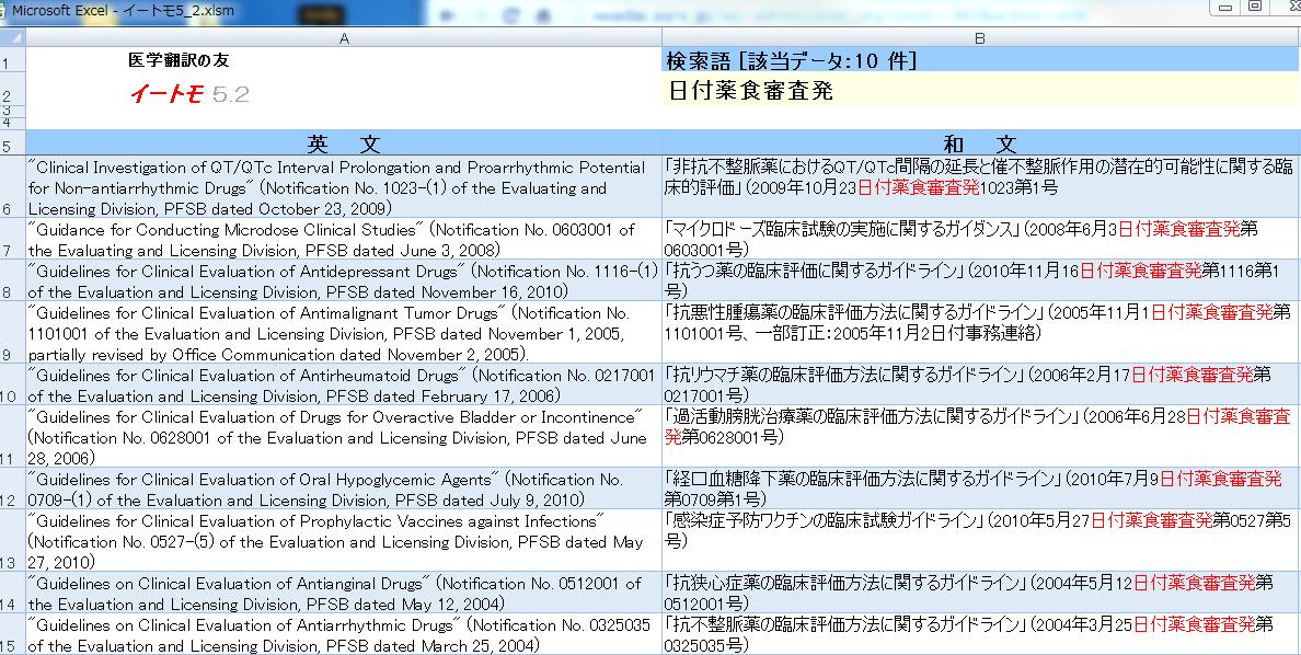 医療翻訳の例文検索ツール-イートモ-画像